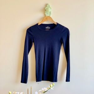J. Crew | Perfect Fit Long Sleeve Tee navy